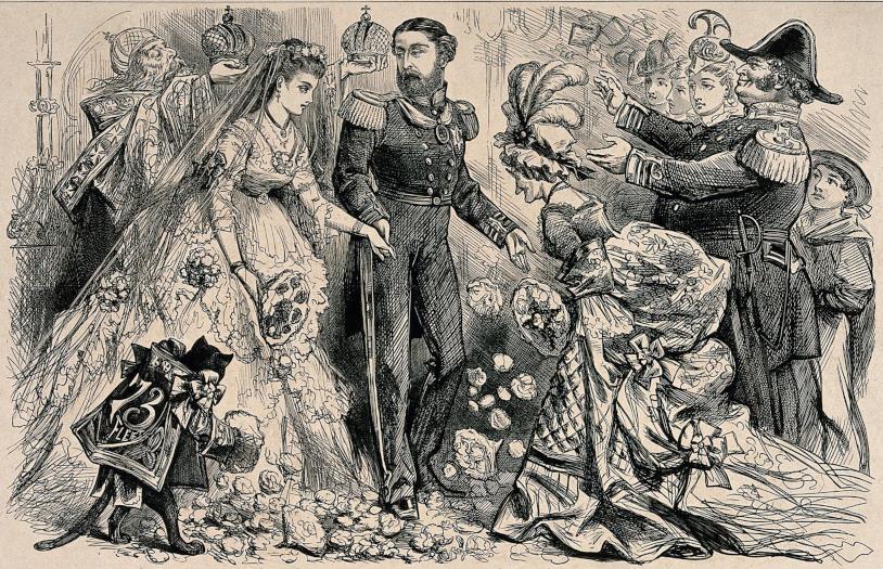 La boda de María Alexandrovana de Rusia con el duque de Edimburgo