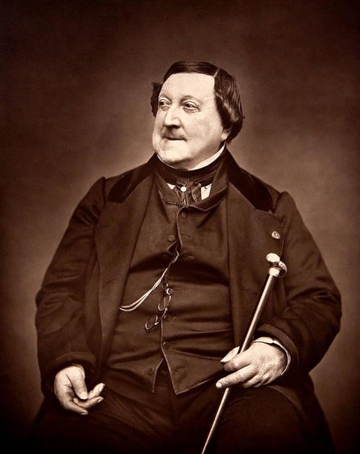 Se nota que a Rossini le gustaba comer